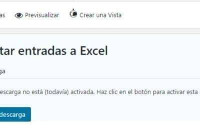 Exportar entradas en Excel con LuxFlow